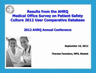 Results from the AHRQ  Medical Office Survey on Patient Safety Culture 2012 User Comparative Database 2012 AHRQ Annual