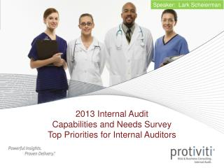 2013 Internal Audit  Capabilities and Needs Survey Top Priorities for Internal Auditors