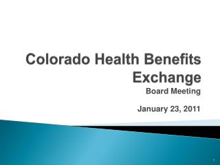 Colorado Health Benefits Exchange