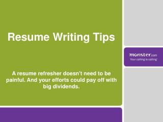 Resume Writing Tips