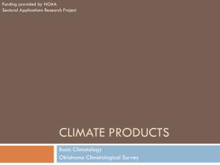 Climate products