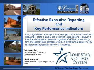 Effective Executive Reporting  and  Key Performance Indicators