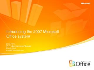 Introducing the 2007 Microsoft Office system