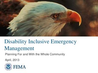 Disability Inclusive Emergency Management