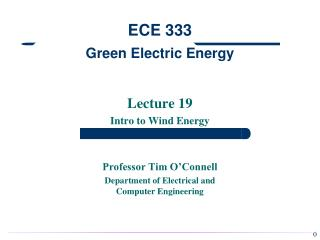 ECE 333  Green Electric Energy