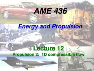 AME 436 Energy and Propulsion