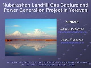 Nubarashen Landfill Gas Capture and Power Generation Project in Yerevan