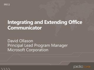 Integrating and Extending Office Communicator