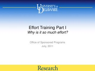 Effort Training Part I Why is it so much effort?