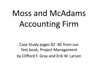 Moss and McAdams Accounting Firm