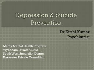 Depression & Suicide Prevention