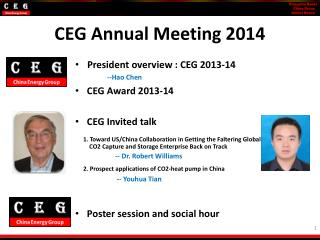CEG Annual Meeting 2014