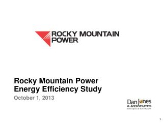 Rocky Mountain Power Energy Efficiency Study