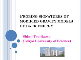 Probing signatures of modified gravity models  of dark energy