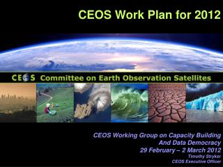 CEOS Work Plan for 2012