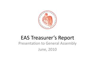 EAS Treasurer's Report