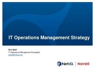 IT Operations Management  Strategy