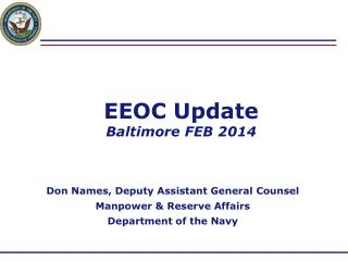 EEOC Update Baltimore FEB 2014