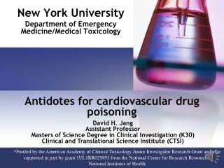 Antidotes for cardiovascular drug poisoning