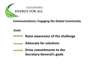Communications: Engaging the Global Community