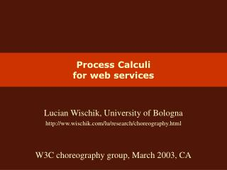 Process Calculi for web services