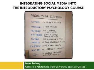 Integrating Social Media into The introductory Psychology Course