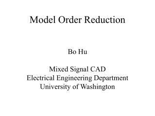 model order reduction
