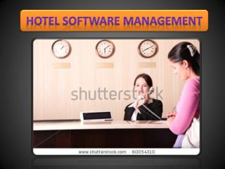 Hotel software management