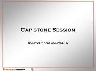Cap stone Session