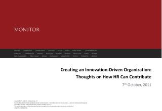 Creating an Innovation-Driven Organization: Thoughts on How HR Can Contribute