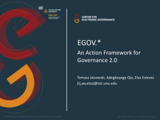 EGOV.*  An Action Framework for Governance 2.0