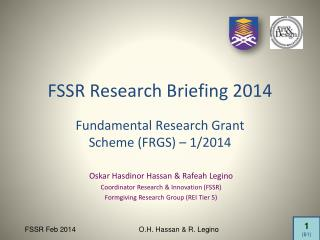 FSSR Research Briefing 2014