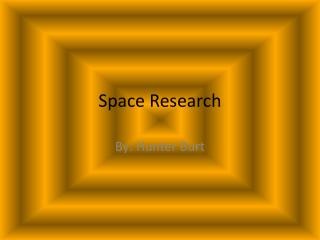 Space Research
