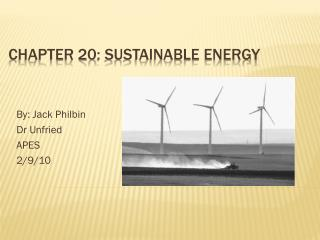 Chapter 20: Sustainable Energy