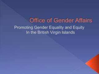 Office of Gender Affairs