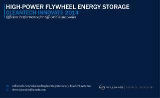 HIGH-POWER FLYWHEEL ENERGY STORAGE