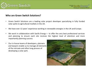 Who are Green Switch Solutions ?