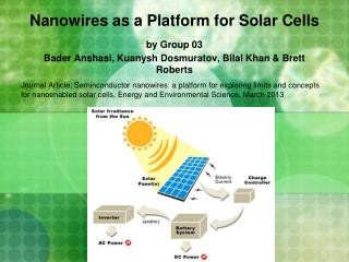 Nanowires as a Platform for Solar Cells