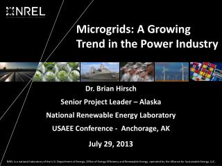 Microgrids : A Growing Trend in the Power Industry