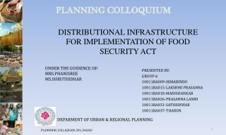 DISTRIBUTIONAL INFRASTRUCTURE FOR IMPLEMENTATION OF FOOD SECURITY ACT