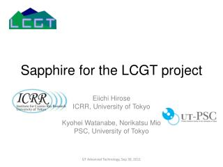 Sapphire for the LCGT project