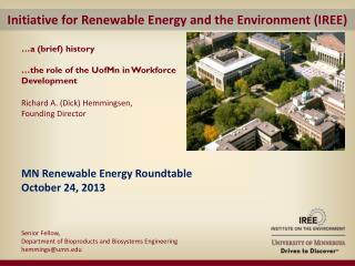 Initiative for Renewable Energy and the Environment (IREE)