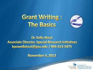 Grant Writing  : The Basics