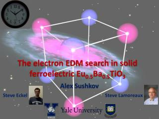 The electron EDM search in solid ferroelectric Eu 0.5 Ba 0.5 TiO 3