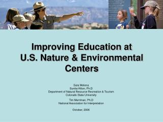 Improving Education at  U.S. Nature & Environmental Centers