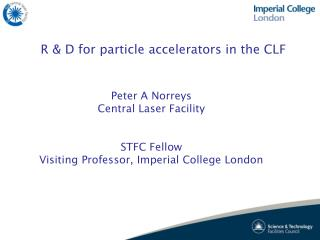 R & D for particle accelerators in the CLF
