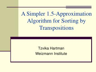 A Simpler 1.5-Approximation Algorithm for Sorting by Transpositions