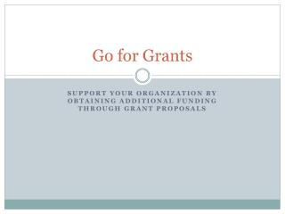 Go for Grants