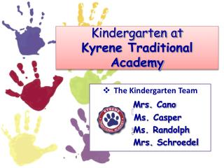 Kindergarten at  Kyrene  Traditional Academy