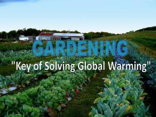 """Key of Solving Global Warming"""